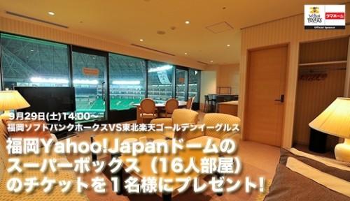 タマホーム 「スーパーボックスで(16人部屋)野球観戦できる」 Facebookキャンペーン