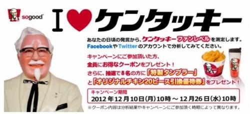 KFC「I LOVE ケンタッキー」 ファンレベル測定