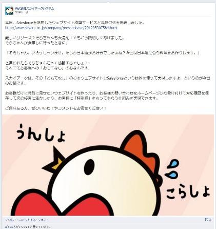 facebook 活用 事例 プロモーション 株式会社スカイアークシステム 宣伝