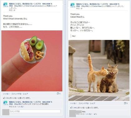 facebook 活用 事例 プロモーション 風船のことなら株式会社バルーンズプロ BALLOON 'S PRO CO., LTD 投稿