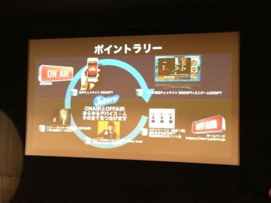 日本テレビによる「ハリーポッター祭り」でのポイントラリーの取り組み