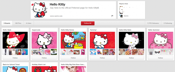 hellokitty pinterest