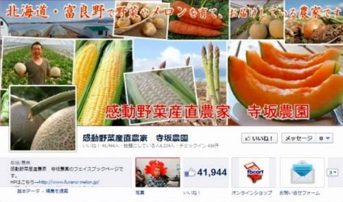facebook 活用 事例 プロモーション 感動野菜産直農家 寺坂農園 カバー