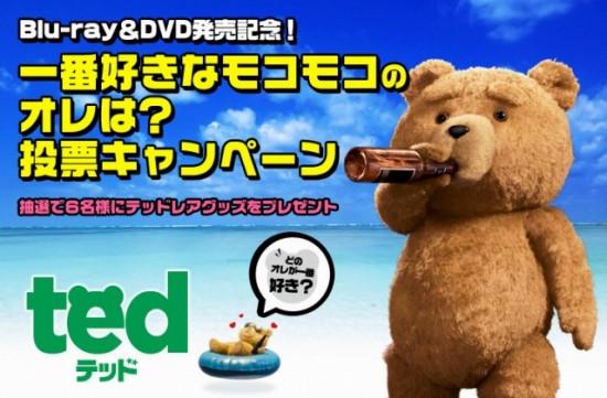 映画「テッド」Blu-ray&DVDの発売決定!写真投票キャンペーン