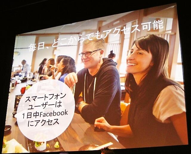 スマートフォンユーザーは1日じゅうFacebookにアクセス