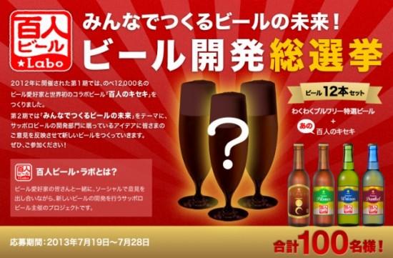 サッポロビール 百人ビール・ラボ ビール開発総選挙