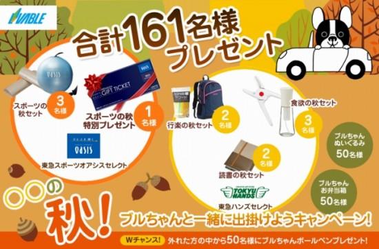 東急リバブル「○○の秋!ブルちゃんと一緒に出掛けようキャンペーン!」