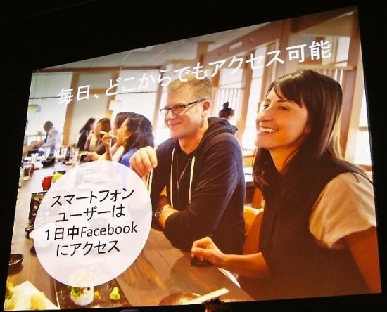 スマートフォンユーザーは1日中Facebookにアクセス
