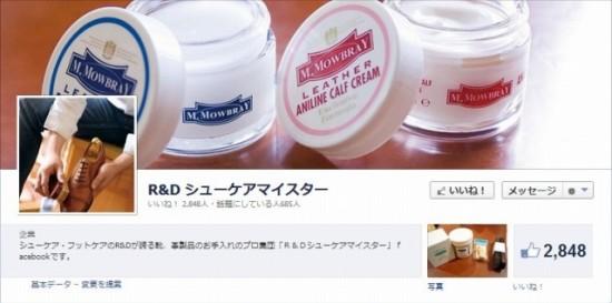 Facebook 活用 事例 プロモーション R&D シューケアマイスター/株式会社 R & D カバー
