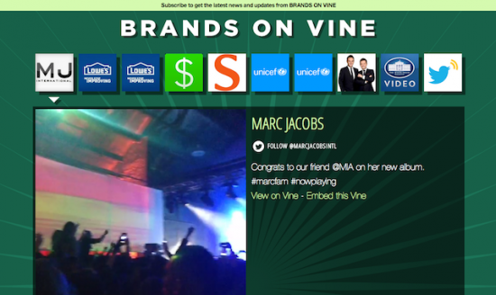 Brands On Vine サイトTOP