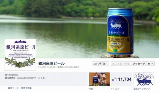 Facebook 活用 事例 プロモーション 銀河高原ビール/株式会社 銀河高原ビール カバー