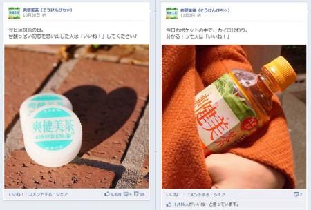 Facebook 活用 事例 プロモーション 爽健美茶(そうけんびちゃ)/日本コカ・コーラ株式会社