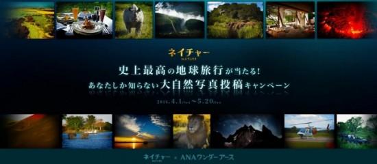 映画『ネイチャー』×ANAワンダーアース「史上最高の地球旅行が当たる!あなたしか知らない大自然写真投稿キャンペーン」