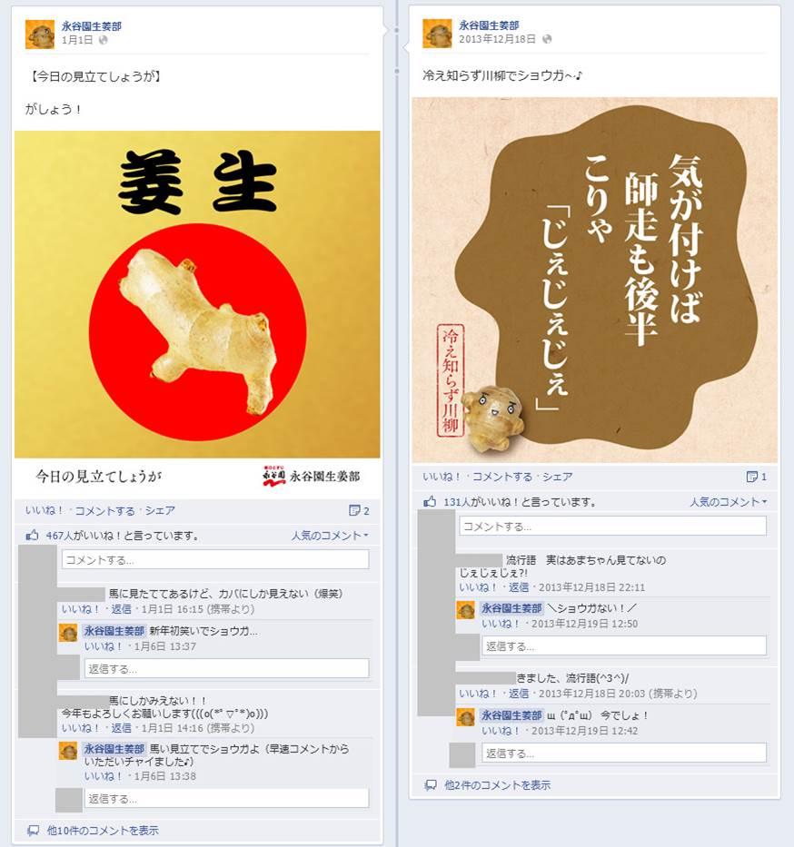 Facebook 活用 事例 プロモーション 永谷園生姜部/株式会社永谷園