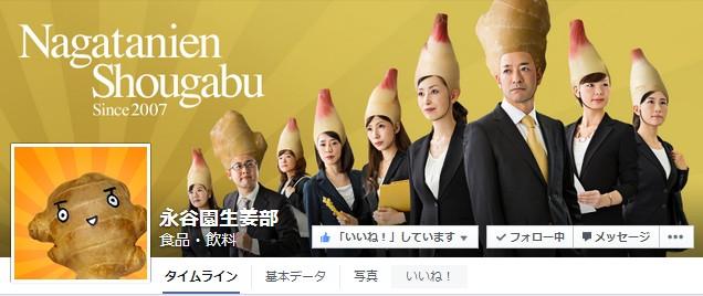 Facebook 活用 事例 プロモーション 永谷園生姜部/株式会社永谷園 カバー