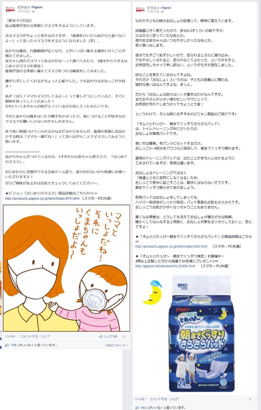 Facebook 活用 事例 プロモーション ピジョン / Pigeon