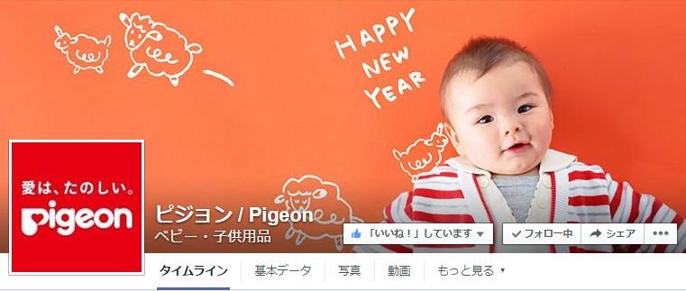 Facebook 活用 事例 プロモーション ピジョン / Pigeon カバー
