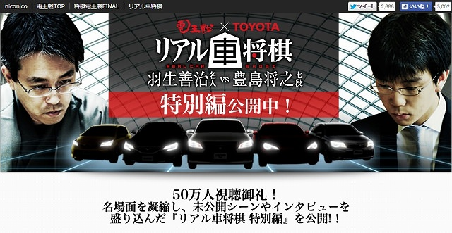 ニコニコ生放送:電王戦×TOYOTA「リアル車将棋」