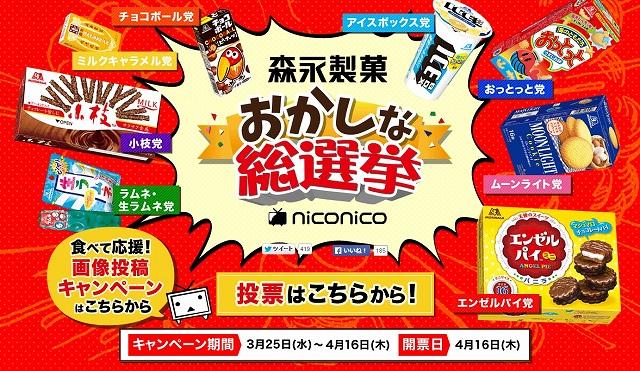 森永製菓「おかしな総選挙」
