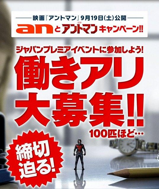 求人情報サイト『an』×映画『アントマン』働きアリ100匹