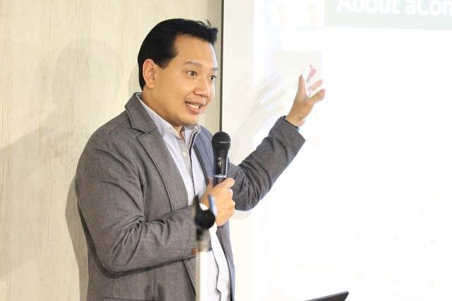 aCommerce Thailand CEO Tom Srivorakul氏。 タイで著名な連続企業家。過去4社を起業し、3社の売却に成功。aCommerce社は5社目の挑戦。