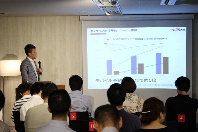 さまざまなマーケットデータを示しながら、中国人観光客の行動の特徴を解説