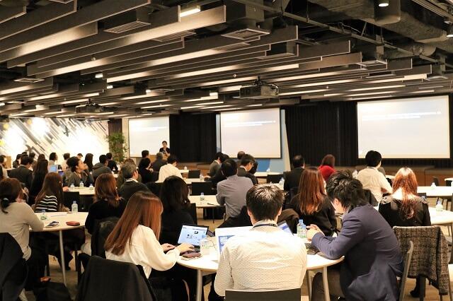 当日は定員80人が満席に。3社の講演後には参加者を対象とした個別相談会を実施した