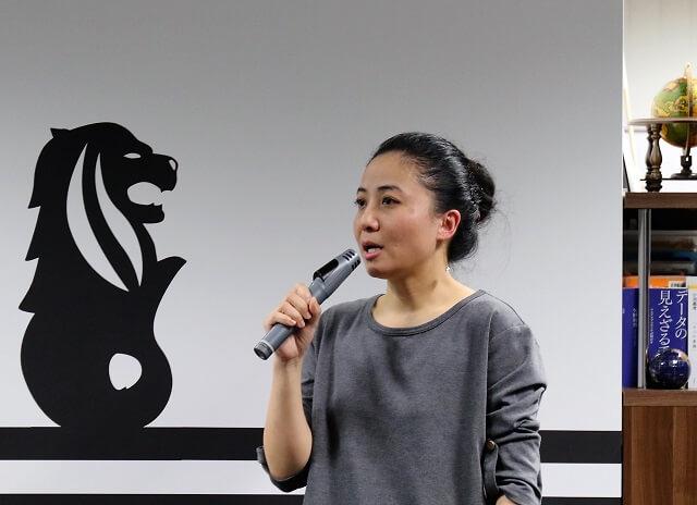 アライドアーキテクツ株式会社・事業企画室 中国SNSコンサルタントの趙 会娟氏。SNS上で約3,000人の在日中国人ネットワークを持ち、リアルな声をマーケティング支援に生かしている。