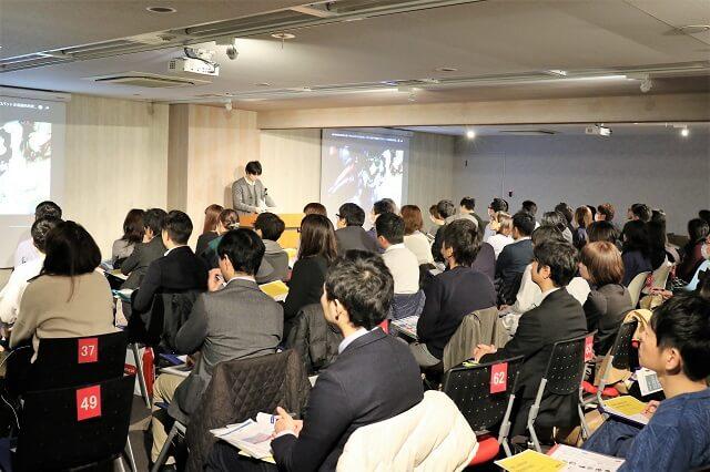 当日は大手メーカーや小売業の担当者ら約60人が聴講した
