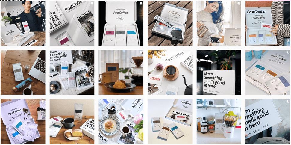 Post Coffee Instagram投稿を掲載画像