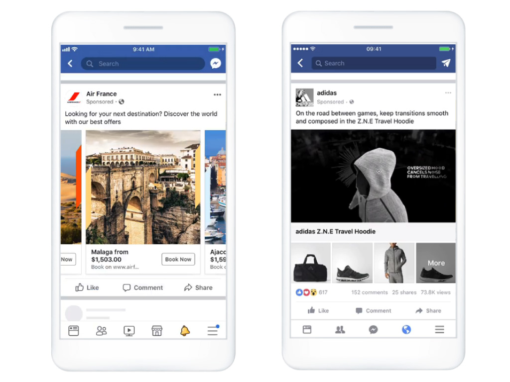 Facebook広告の例
